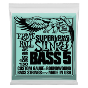 Ernie Ball 2850 NW SUPER LONG SCALE 5 STRING SLINKY 45-130