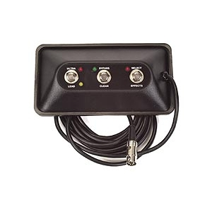 "Peavey 3-gombos ""Ultra/Lead""/Bypass/Reverb, LED-el Ultra Plus"