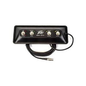 "Peavey 4-gombos ""Lead/Crunch""/Bypass/Reverb/Chorus LED-el"