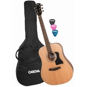 Cascha HH 2080 Dreadnought Acoustic Guitar Set