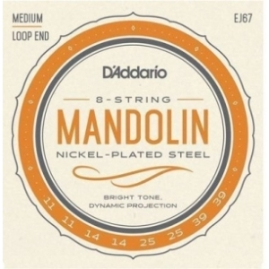 DAddario EJ67 Nickel Mandolin Strings Medium 11-39