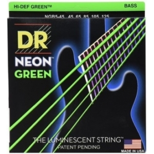 DR Strings DR Neon Green Bass Medium