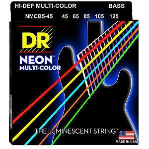 DR Strings NMCB5-45 Neon Multi-Color