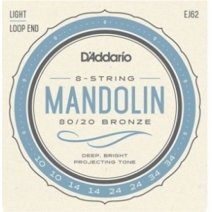 DAddario EJ62 Bronze Mandolin Strings 80/20 Light 10-34