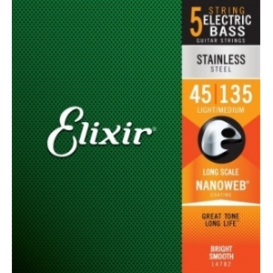 Elixir 14782 NanoWeb Stainless Steel 45-135 Light Medium