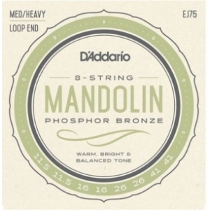 DAddario Ej75 Phosphor Bronze Mandolin Medium/Heavy 11.5-41