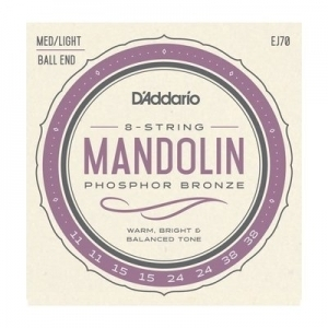 DAddario EJ70 PHB Mandolin Strings Ball End Medium/Light 11-38