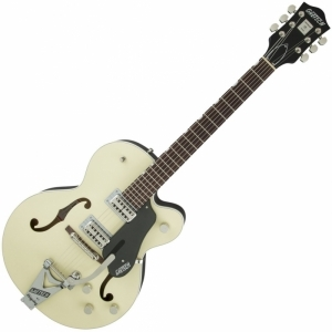 Gretsch G6118T-LIV 2-Tone Lotus Ivory and Charcoal Metallic